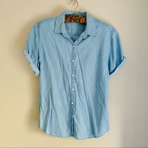 Gap TENCEL Roll Sleeve Shirt